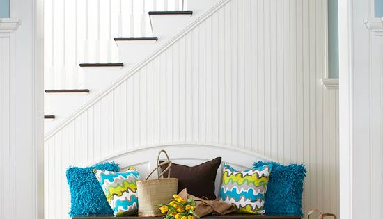 An entryway can be the optimal place to introduce the home's color