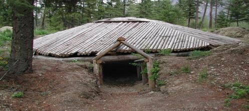 Native American Pit House This Is The Pithouse Bushcraft Shelter
