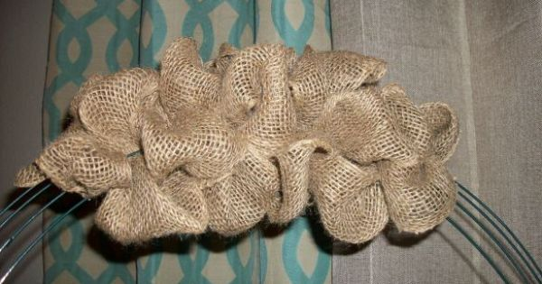 Burlap Wreath: Easy fall wreath. Can decorate to match any decor. (just