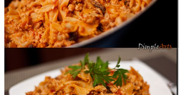 Farfalle Turkey and Mushroom Casserole | Healthy recipes | Pinterest ...