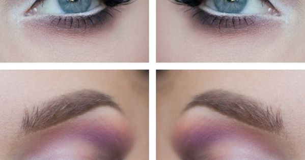 Linda Hallberg -pink and white eyeshadow