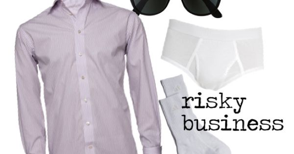 diy last minute costume idea: risky business