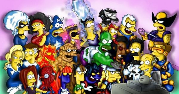 Simpsons Characters | Simpsons + Marvel Characters [~Rhyno777]