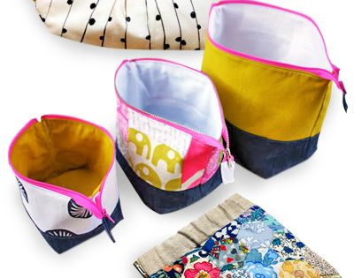 DIY pouch sewing tutorials. For in the diaper bag.