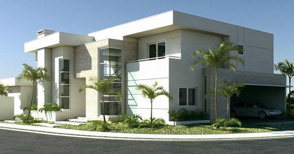 100 fachadas de casas frentes modernas e baratas aqui for Casas modernas y baratas