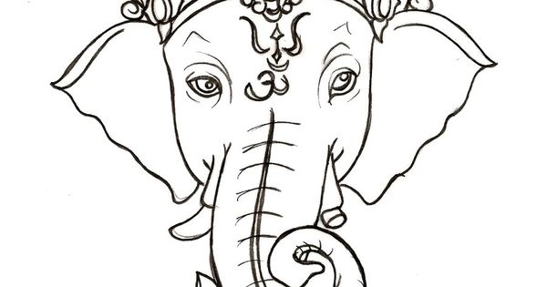 "Ganesh- god of obstacles and wisdom. I'd love this below my ""Ancora"