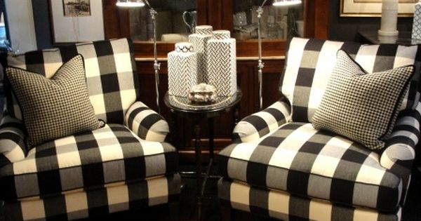 Buffalo Check Club Chairs Furniture Pinterest