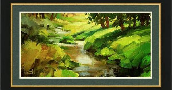 Verdant Banks Framed Print By Steve Henderson In 2020 Framed Art Prints Framed Art Framed Prints