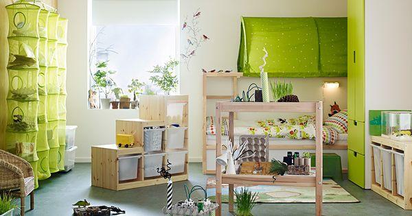 Kinderzimmer ikea trofast  Blick auf das Kinderzimmer mit aufgemöbelten IKEA Möbeln, TROFAST ...