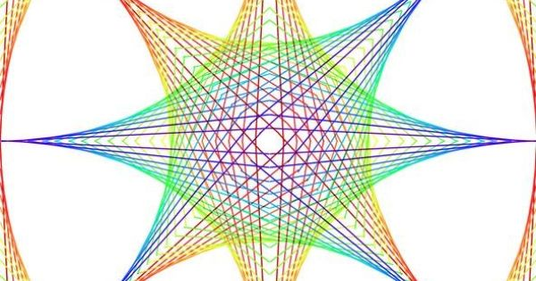 Straight Line String Art : How to create parabolic curves using straight lines