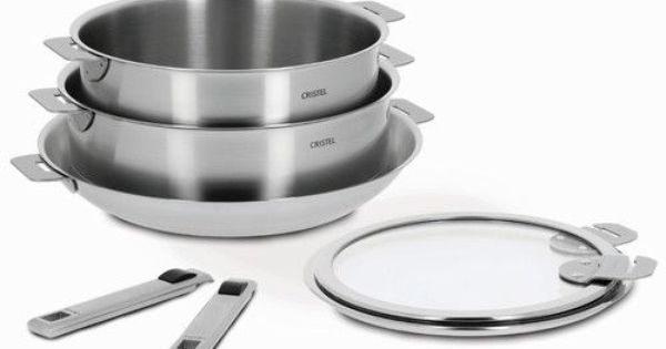 Cristel Cookware Has Removable Handles And Flat Lids So