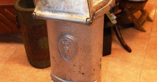 Antigua estufa de hierro fundido para carbon o le a - Estufas de hierro ...