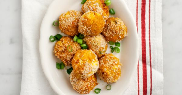 Butternut Squash Croquettes (leave out the feta and use coconut yogurt)