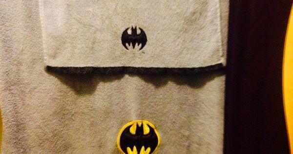 Batman towels target batman bathroom pinterest for Batman bathroom ideas