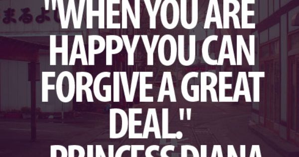 Happy truth princess diana quote