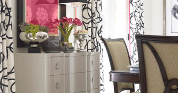 Love This Pop Of Pink A Traditional Dining Room Eclectic