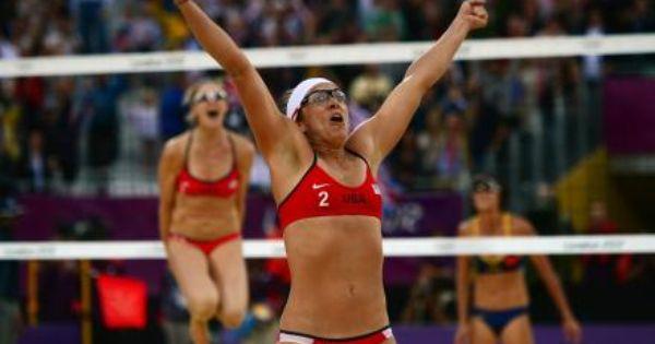 Usa Defeats China Women S Beach Volleyball Final Will Be All American Affair Kerri Walsh Jennings Kerri Walsh Misty May Treanor