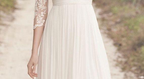 Empire Waist Lace Dress | 25 Dreamy Reception Dresses Under $150 bridesmaid