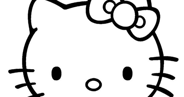 Coloriage hello kitty colorier dessin imprimer emma pinterest hello kitty coloriage - Coloriage tete hello kitty a imprimer ...