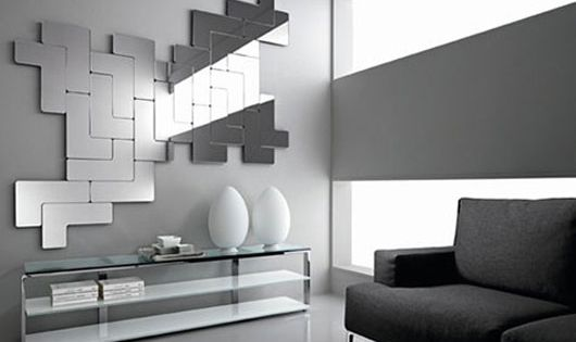 Modulaire design spiegels woonkamer inrichting interieur for Design spiegels woonkamer