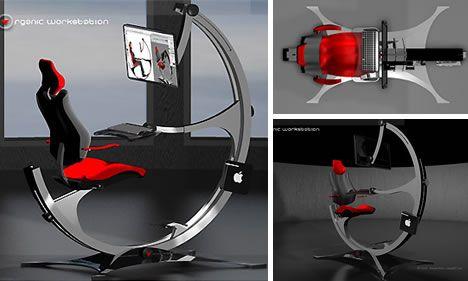 Strange Geeky Temptation 16 Slick Sick Stunning Workstations Machost Co Dining Chair Design Ideas Machostcouk