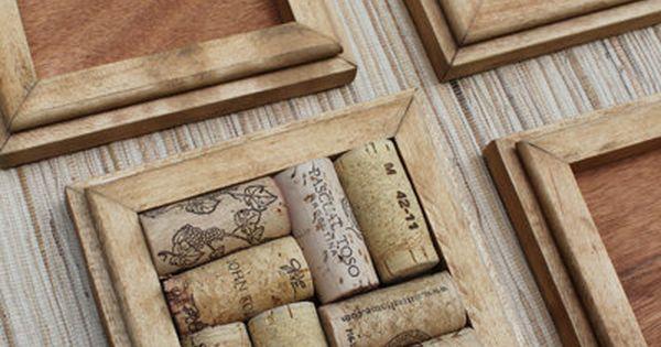 Honey wine cork coasters diy set of 4 on rustic for Diy rustic coasters