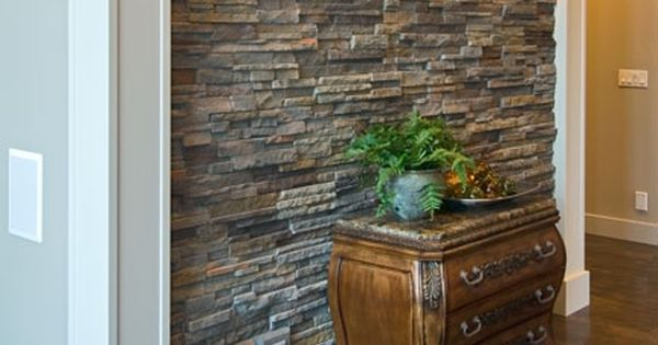 Love Interior Stone Accent Walls And Columns Gives Rustic Classy Look Faux Stone Is So Much Stone Wall Design Stone Wall Interior Design Interior Wall Design