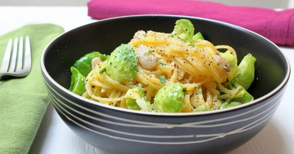 Pasta with Brussels Sprouts, White Beans, & Lemon Zest | Forks Over ...