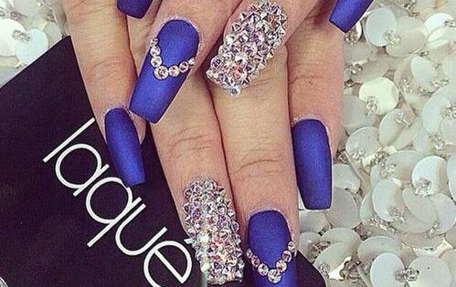 image via we heart it acrylics blue crystals designs