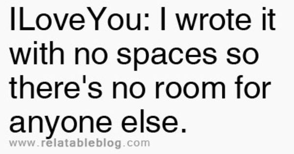 There's Only Room For You. True Story.