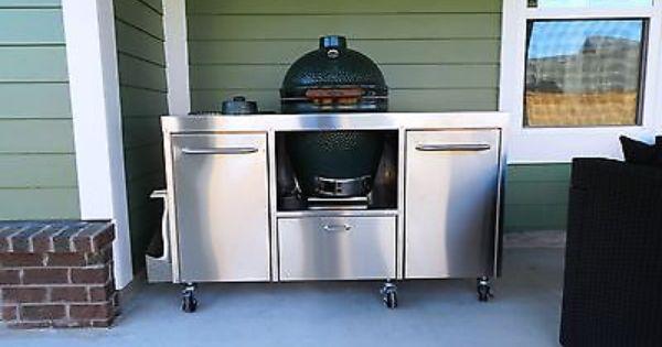 Stainless Steel Big Green Egg Table Cart Primo Kamado Joe