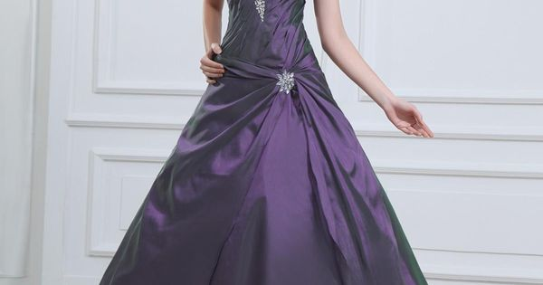 Dark Purple Quinceanera Dress With Beaded Sweetheart A-line Taffeta - US$186.75 http://www.dresses100.com