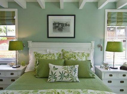 Dormitorios En Color Verde Decoracion De Interiores Y Exteriores Estiloydeco Colores Para Dormitorios Matrimoniales Colores Para Dormitorio Dormitorios