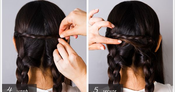 braided updo braid hair extensions longhair hairdo hairstyle romantic tutorial DIY stepbystep