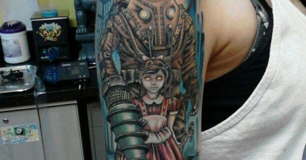 Bioshock tattoo tatspo pinterest bioshock tattoo for Bioshock wrist tattoo