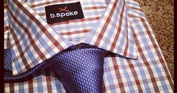 This Brown and Blue Gingham rocks any Navy suit. Be Bold, Be Bspoke