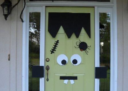 Halloween Door halloweendecorating