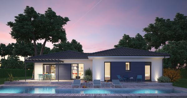 mod le de maison villa hortense propos par couleur villas. Black Bedroom Furniture Sets. Home Design Ideas