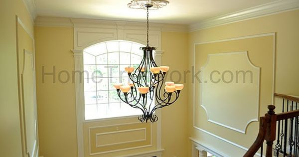 Foyer Door Frame : Picture frames and trim above front door foyer