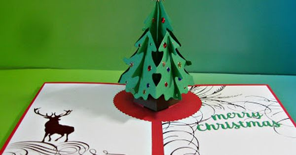 Another Pop Up Christmas Card With Karen Burniston Dies Pop Up Christmas Cards Christmas Cards Christmas Tree Cards