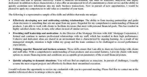 loan officer cover letter sample loan officer pinterest cover