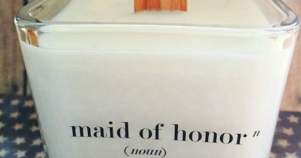 Wedding Gifts For Maid Of Honor: NEW Maid Of Honor Soy Candle