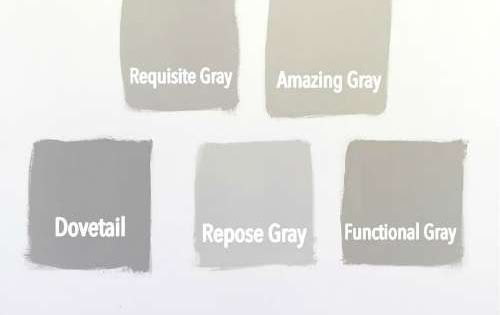 sherwin williams gray versus greige grey cabinets and repose gray. Black Bedroom Furniture Sets. Home Design Ideas