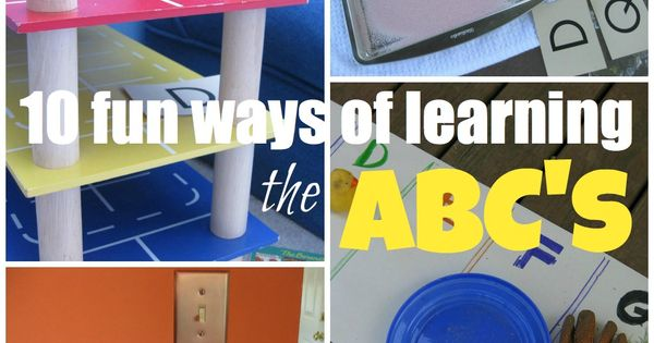 10 fun ways of helping kids learn abcs