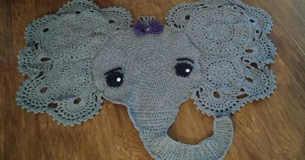 Crochet Elephant Rug : Crochet, Rugs and Crochet elephant on Pinterest