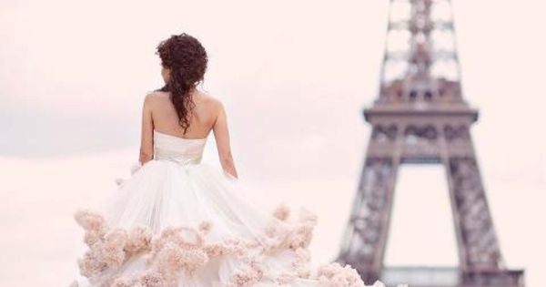 a Parisian wedding dress, hate the dress, love the view!