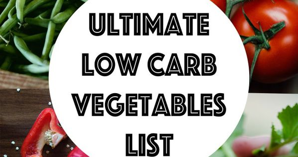 low carb vegetables list pdf