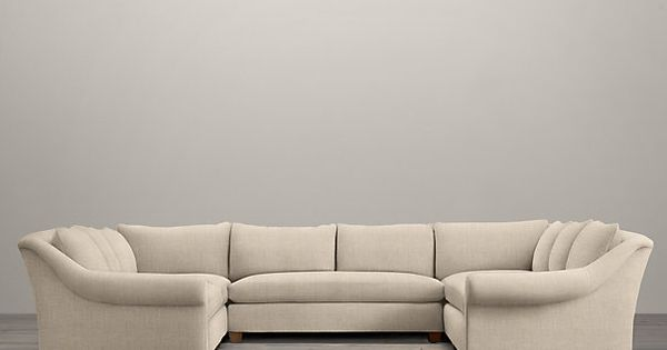 Belgian roll arm upholstered u sofa sectional another for U shaped sectional sofa restoration hardware