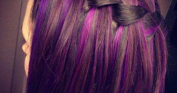 Beautiful purple highlights. ♡♥♡