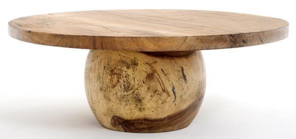 Modern Wood Coffee Tables Round Slab Organic Furniture Modern